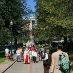 Der Freedom Trail inklusive Guide und Touristen